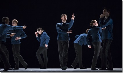Sansano uses dialogue, set and costumes as well as choreography to make his elegant point.